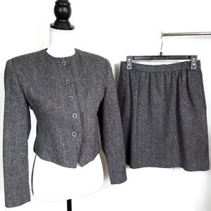 Vintage 1970's 1980's Gilmor Tweed Skirt Suit